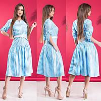 Платье в полоску / хлопок / Украина 15-342, фото 1