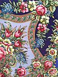 Воспоминания о лете 563-14, павлопосадский платок (шаль) из уплотненной шерсти с шелковой вязанной бахромой, фото 7