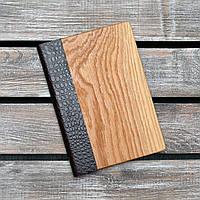 Блокноты с деревянной обложкой. (А00306)