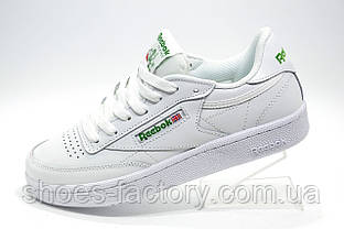 Кроссовки женские в стиле Reebok Club C 85 Leather, White\Green