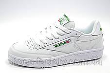 Кроссовки женские в стиле Reebok Club C 85 Leather, White\Green, фото 3