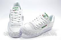 Кроссовки женские в стиле Reebok Club C 85 Leather, White\Green, фото 2