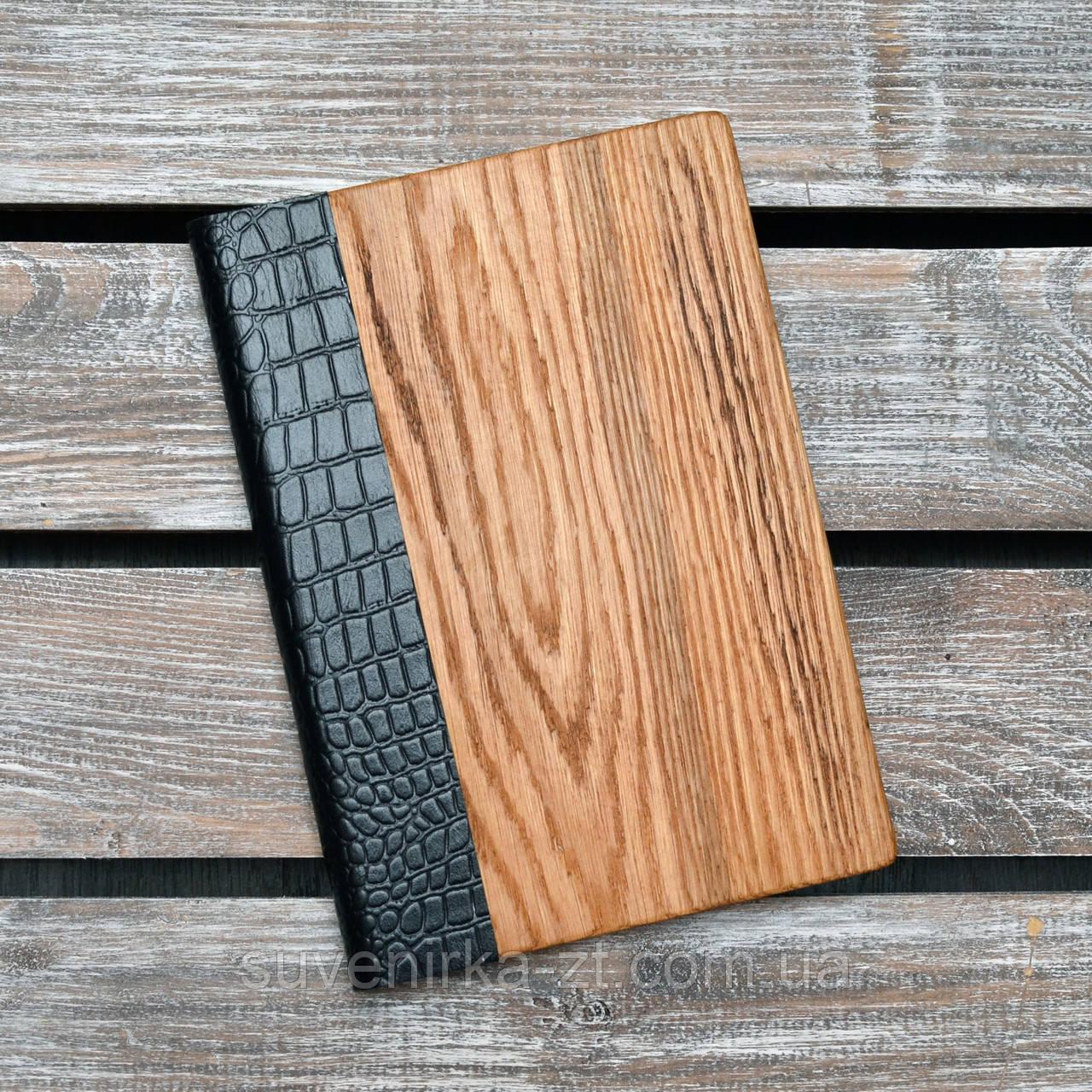 Блокноты с деревянной обложкой. (А00302)