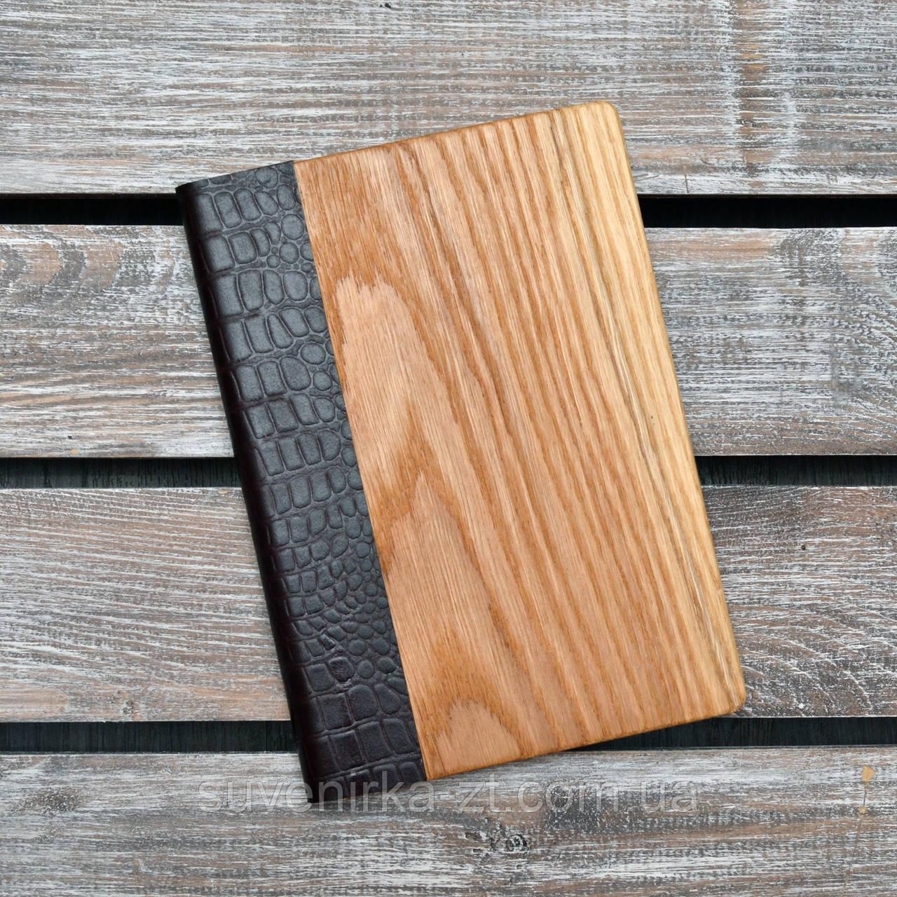 Блокноты с деревянной обложкой. (А00314)