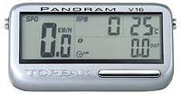 Велокомпьютер Topeak Panoram V16 16 функций, беспроводной, Сandence (GT)