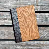 Блокноты с деревянной обложкой. (А00316)