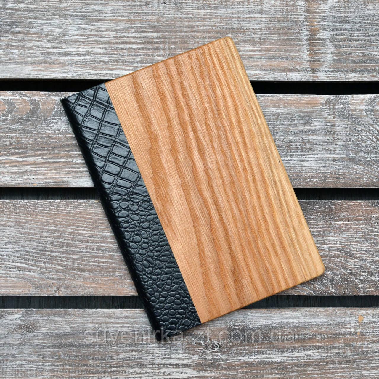 Блокноты с деревянной обложкой. (А00317)