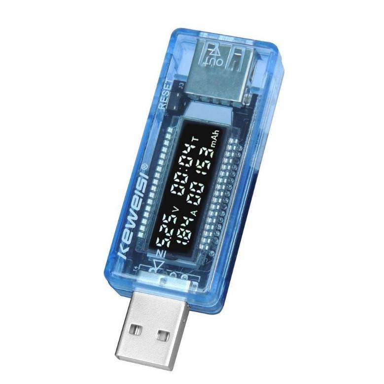 USB тестер текущего тока и напряжения с цифровым дисплеем