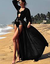 Женская длинная пляжная туника с поясом (Крита jd), фото 2
