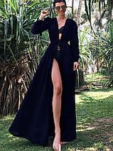 Женская длинная пляжная туника с поясом (Крита jd), фото 3