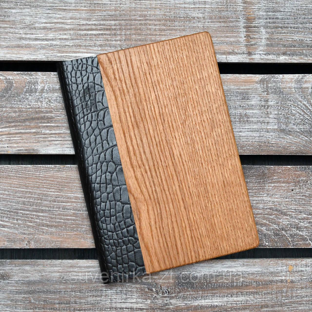 Блокноты с деревянной обложкой. (А00321)