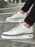 Мужские кроссовки Nike Air Force 1 low (Full White), мужские белые Nike air force, найк аир форс низкие