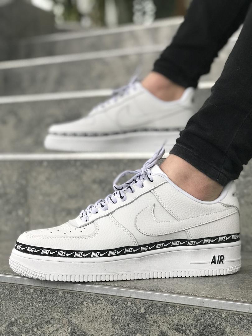 1b33f7a8 Мужские кроссовки Nike Air Force 1 low (Full White), мужские белые Nike air