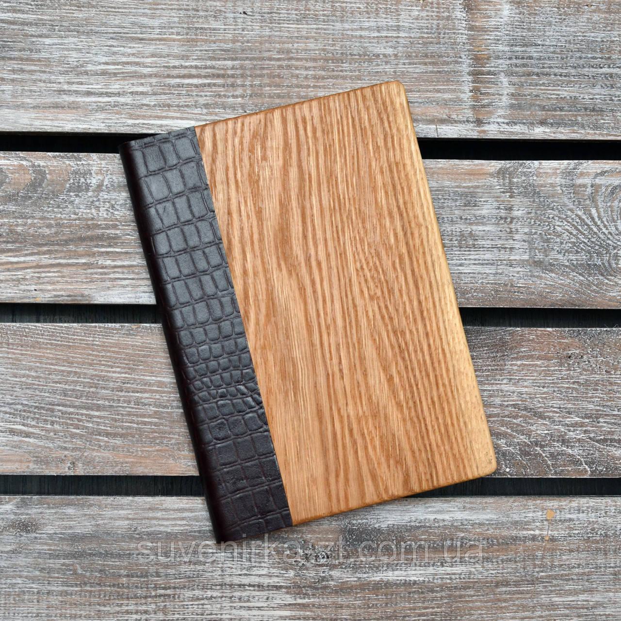 Блокноты с деревянной обложкой. (А00308)