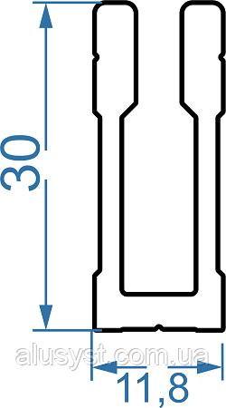 Крепеж потайной для трубы квадратной 15х15мм