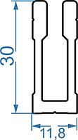 Крепеж потайной для трубы квадратной 15х15мм, фото 1