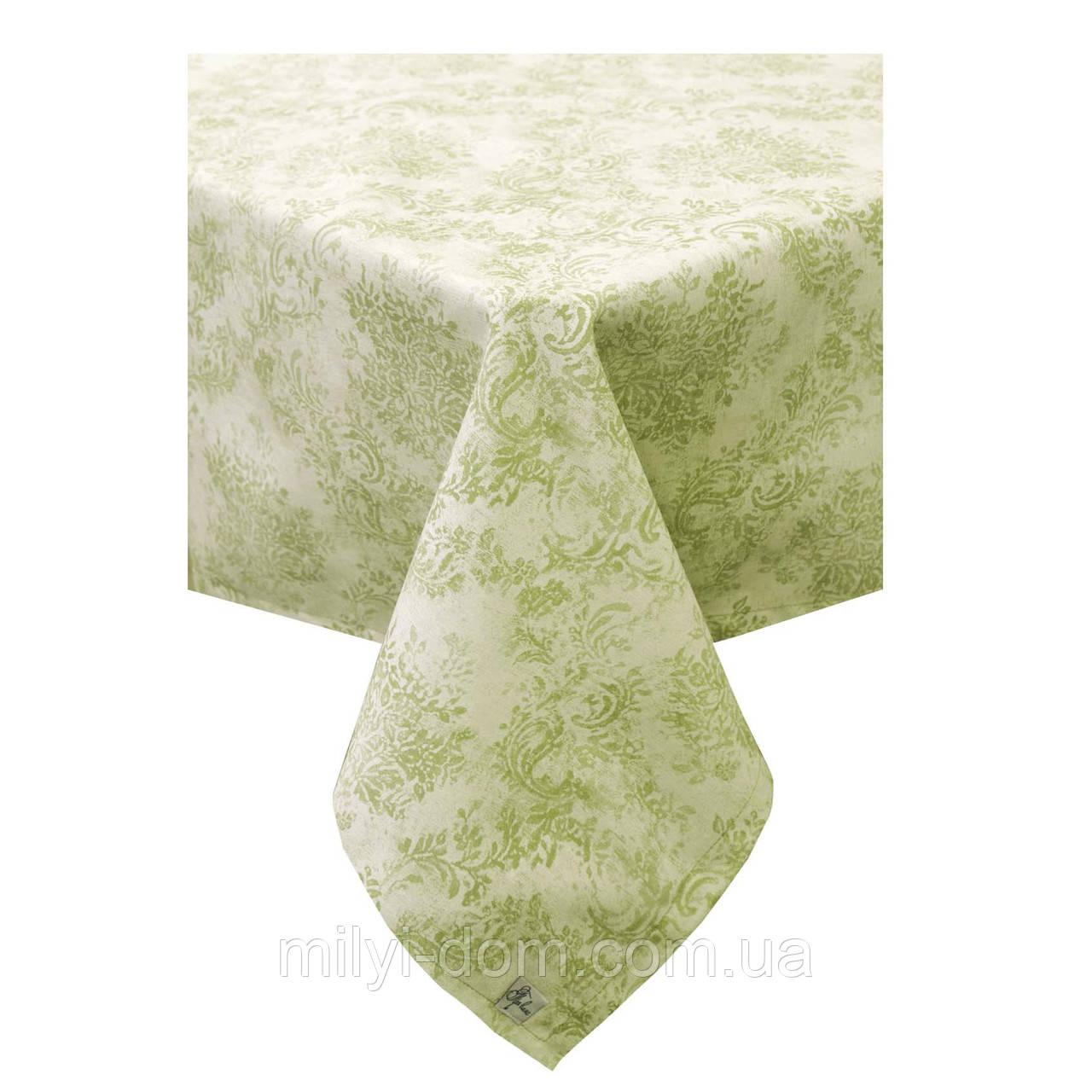 """Скатертина """"Вінтаж зелений"""", 60% бавовна, 132х180 см"""