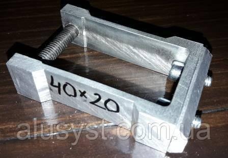 Крепление мебельное трубы прямоугольной 40х20мм