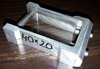 Кріплення меблеве труби прямокутної 40х20мм, фото 1