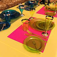 Набор тарелок стеклопластик для ресторанов кафе баров бассейнов гостиниц аквапарков CFP 6шт/уп 260 мм