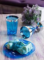 Тарелки одноразовые десертные 6 шт 155 мм оптом от производителя для ресторанов, кафе, хореки CFP синяя.