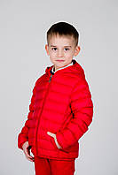 Демисезонная, Модная Ветровка Детская Красного Цвета С КапюшономBrums, Италия.