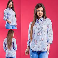 Женская рубашка / хлопок / Украина 15-457, фото 1