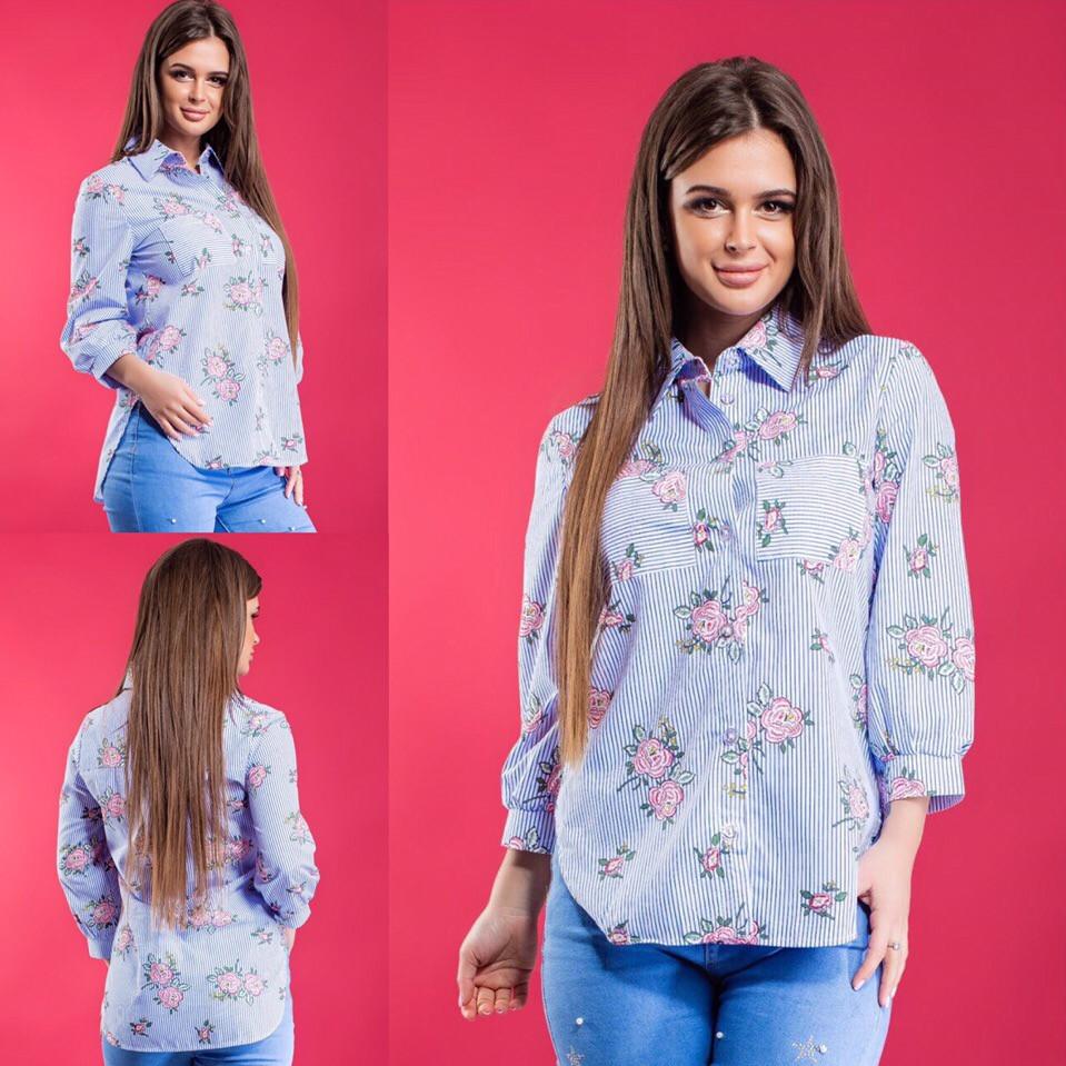 38c83115ce77 Женская рубашка / хлопок / Украина 15-457: купить оптом и в розницу от  производителя, ...