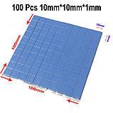 1 лот = 10 штучок Термопрокладка під радіатор 10х10х1мм, силікон, фото 6