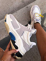 Модные женские кроссовки Triple S от Balenciaga (реплика)