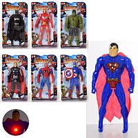 Игрушка супер - герой 1161-61C,  16 см, свет,  7 видов, на батарейках