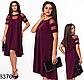 Женское свободное платье с сеткой (мята) 828378, фото 3