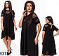 Женское свободное платье с сеткой (мята) 828378, фото 4
