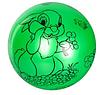 """Мяч детский MS 1900, 9 дюймов/23 см,с рисунком """"Зайчик"""", 60-65 г, 6 цветов, фото 4"""