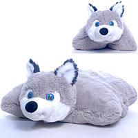 Мягкая игрушка подушка Волчонок  00295-74, 19x40x49 см, Копиця