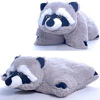 Мягкая игрушка подушка Енотик  00295-75, 17x40x45 см, Копиця
