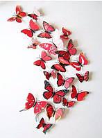 3D бабочки для украшения красные, фото 1