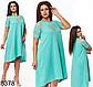 Свободное женское платье с коротким рукавом (марсал) 828376, фото 4