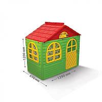 Детский игровой домик  02550/13, 1290х690х1200 мм, со шторками, DOLONI-TOYS