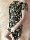 Платье-туника из сетки с коричнево-бежевым леопардовым принтом размер 44-48, фото 6
