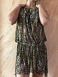 Платье-туника из сетки с коричнево-бежевым леопардовым принтом размер 44-48, фото 7