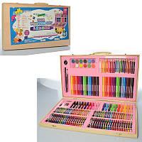 Набор для детского творчества MK 2456, 180 предметов, 2 вида (голубой и розовый)