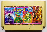 Картридж денди 4 в 1 Batman, Spiderman, Turtles 1, 4