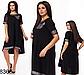 Женское свободное платье с коротким рукавом (красный) 828364, фото 2