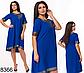 Женское свободное платье с коротким рукавом (красный) 828364, фото 3