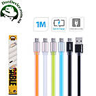 Кабель USB - MicroUSB 1m Remax Colourful  MicroUSB 1m  RC-005m,зеленый, фото 2