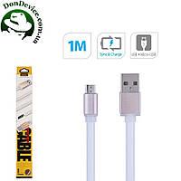 Кабель USB - MicroUSB 1m Remax Colourful  MicroUSB 1m  RC-005m,белый