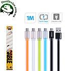 Кабель USB - MicroUSB 1m Remax Colourful  MicroUSB 1m  RC-005m,голубой, фото 2
