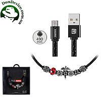 Кабель USB - MicroUSB 1m Remax Jewellery RC-058m