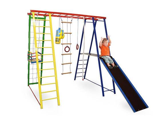 Детский спортивный комплекс, игровая площадка для детей Sport Baby Plus с горкой 200/150/200, фото 2